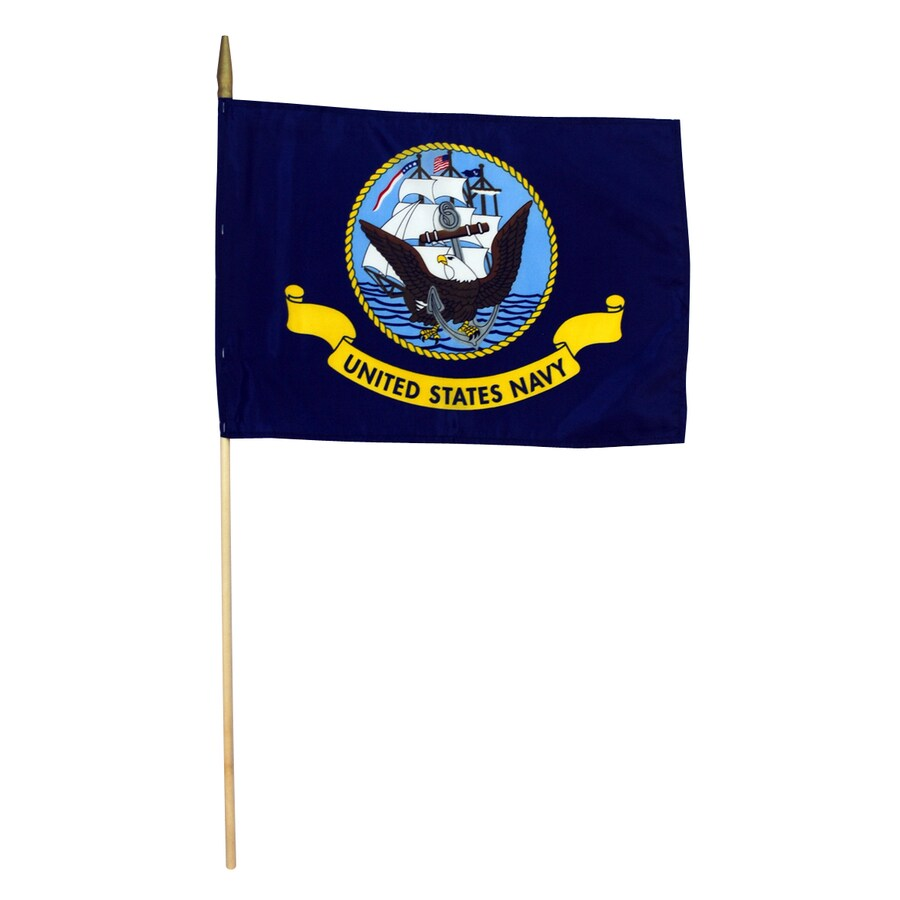 1.5-ft W x 1-ft H Military Navy Flag