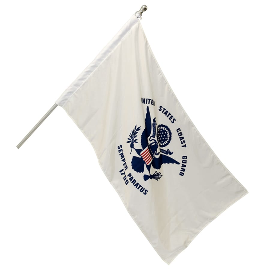 4-ft W x 2.5-ft H Military Coast Guard Banner