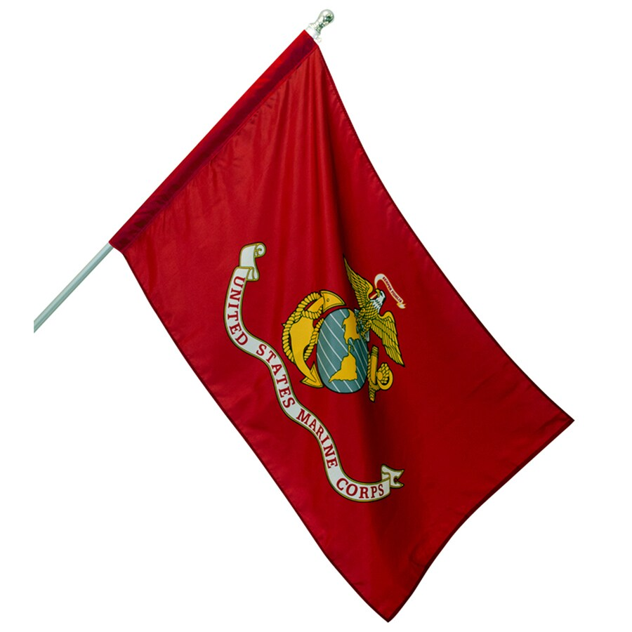 Marine Corps 4-ft W x 2.5-ft H Military Marine Corps Banner