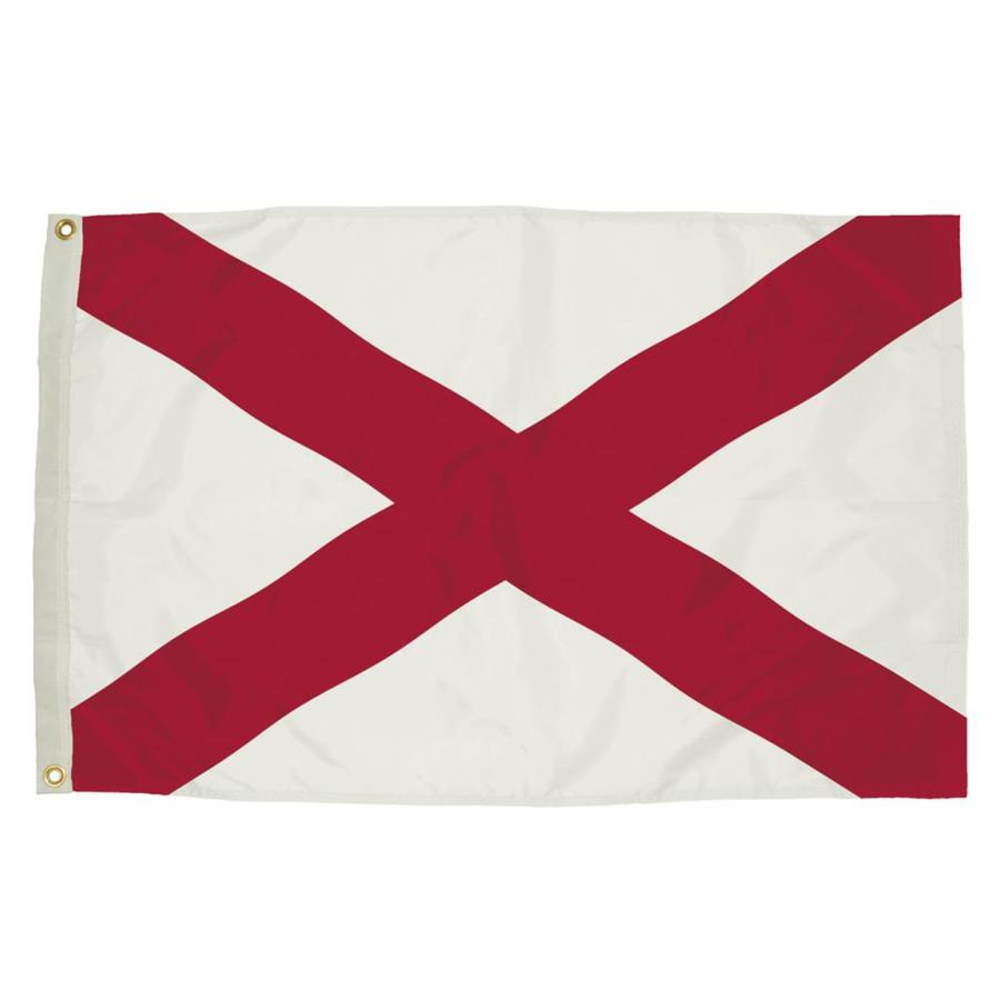 5-ft W x 3-ft H State Alabama Flag