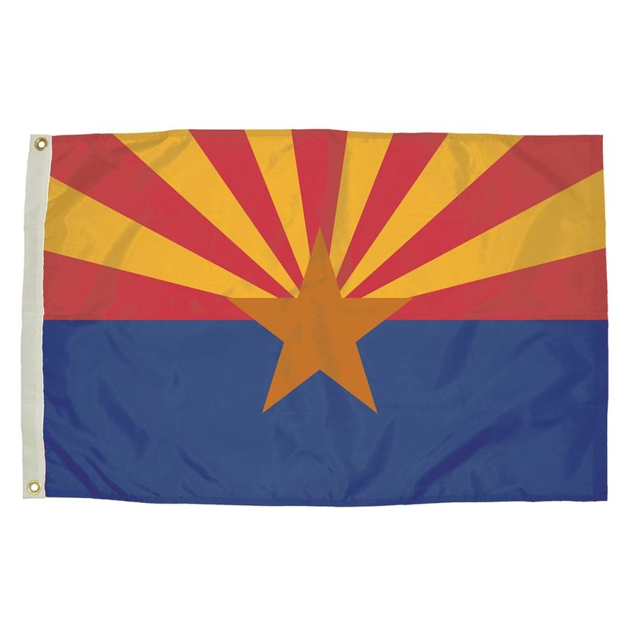 5-ft W x 3-ft H State Arizona Flag