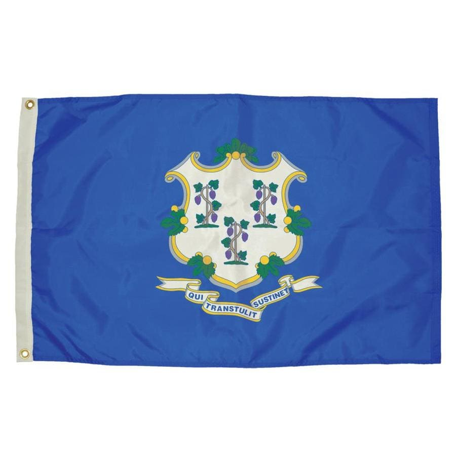 5-ft W x 3-ft H State Connecticut Flag