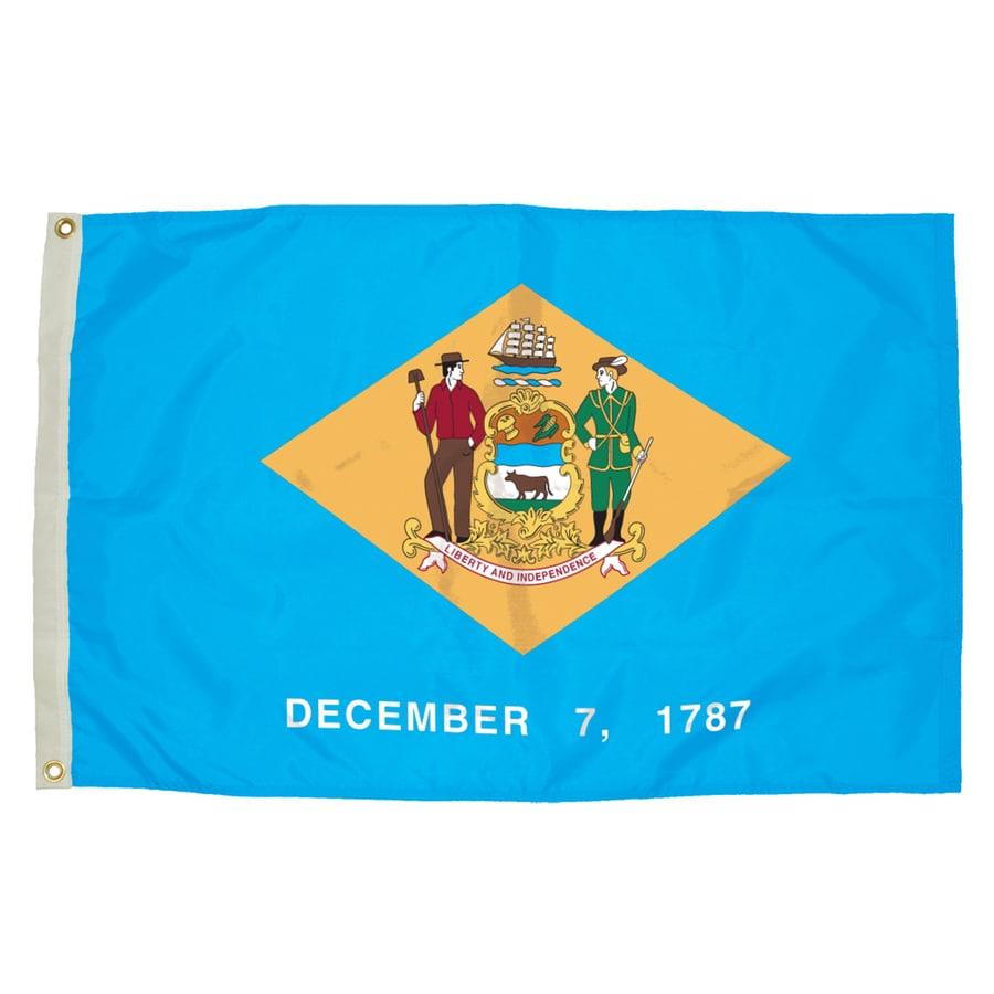 5-ft W x 3-ft H State Delaware Flag