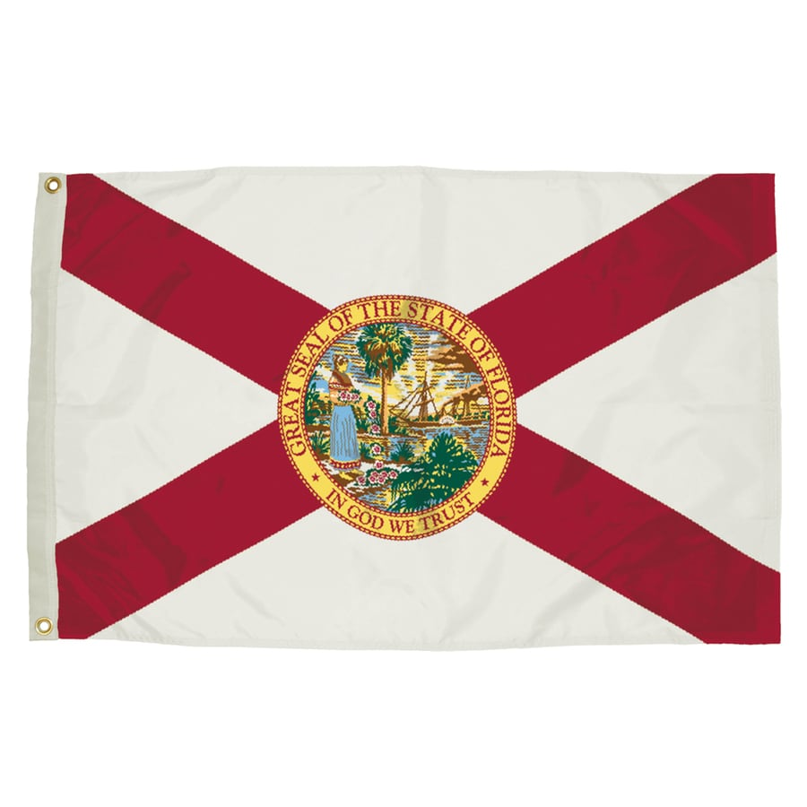5-ft W x 3-ft H State Florida Flag
