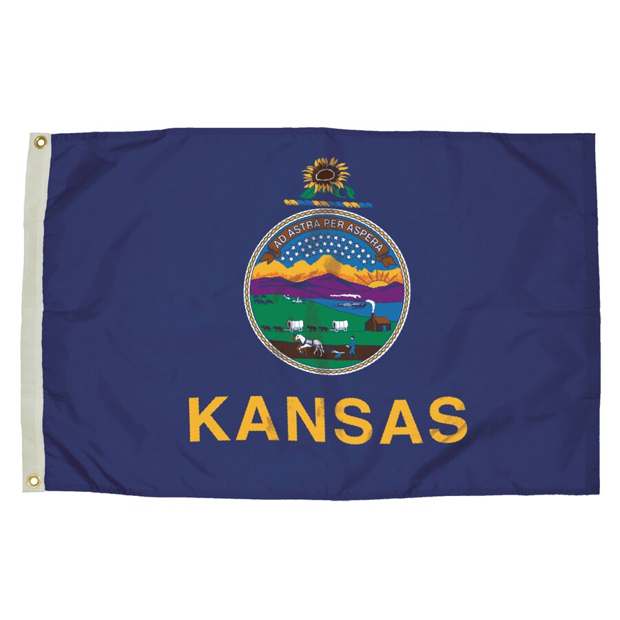 5-ft W x 3-ft H State Kansas Flag