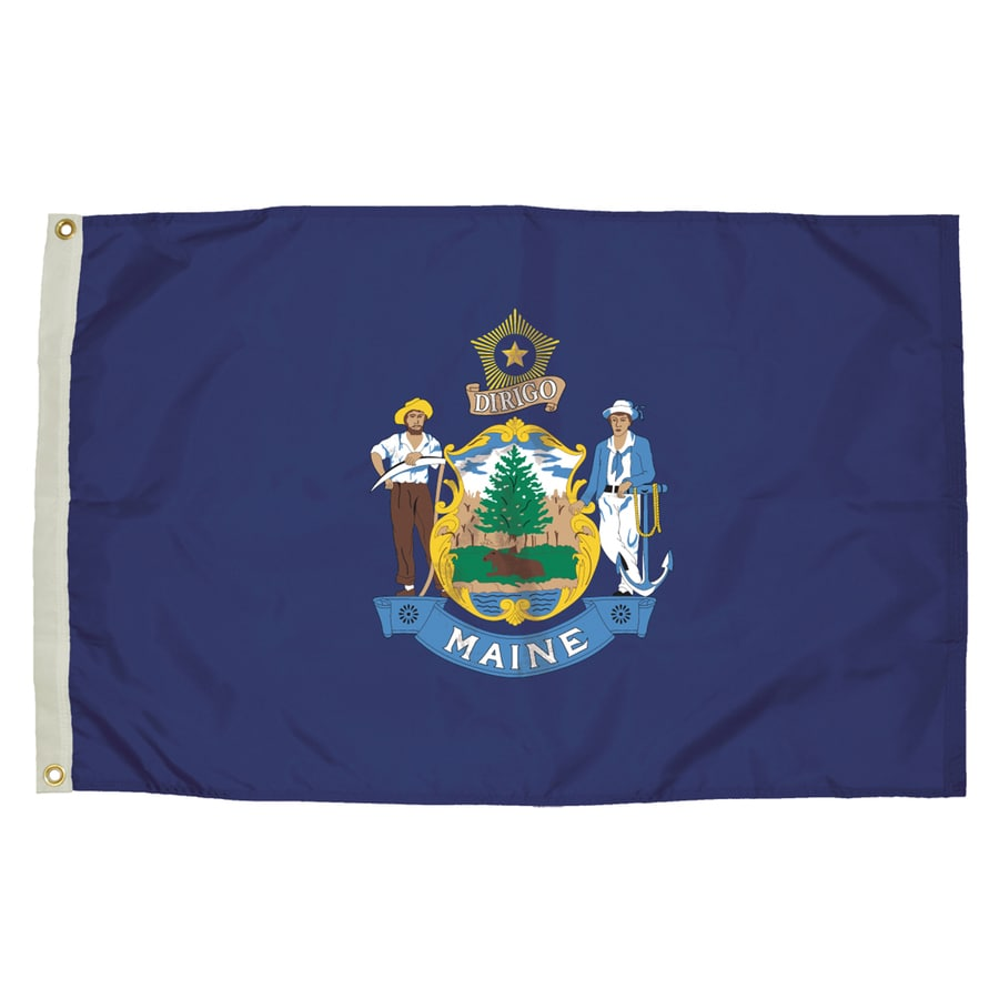 5-ft W x 3-ft H State Maine Flag