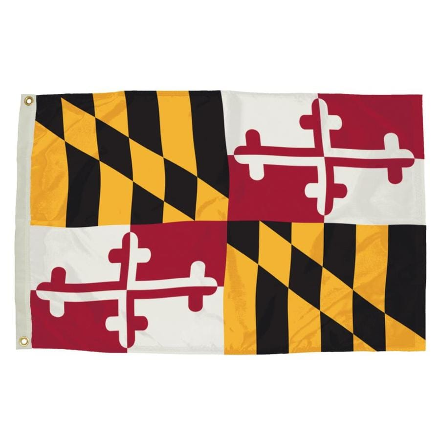 5-ft W x 3-ft H State Maryland Flag