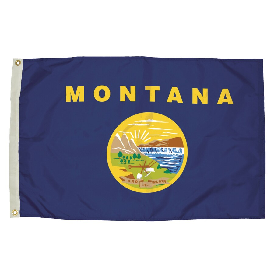 5-ft W x 3-ft H State Montana Flag