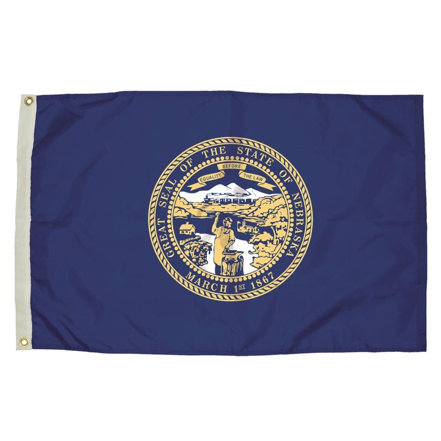 5-ft W x 3-ft H State Nebraska Flag