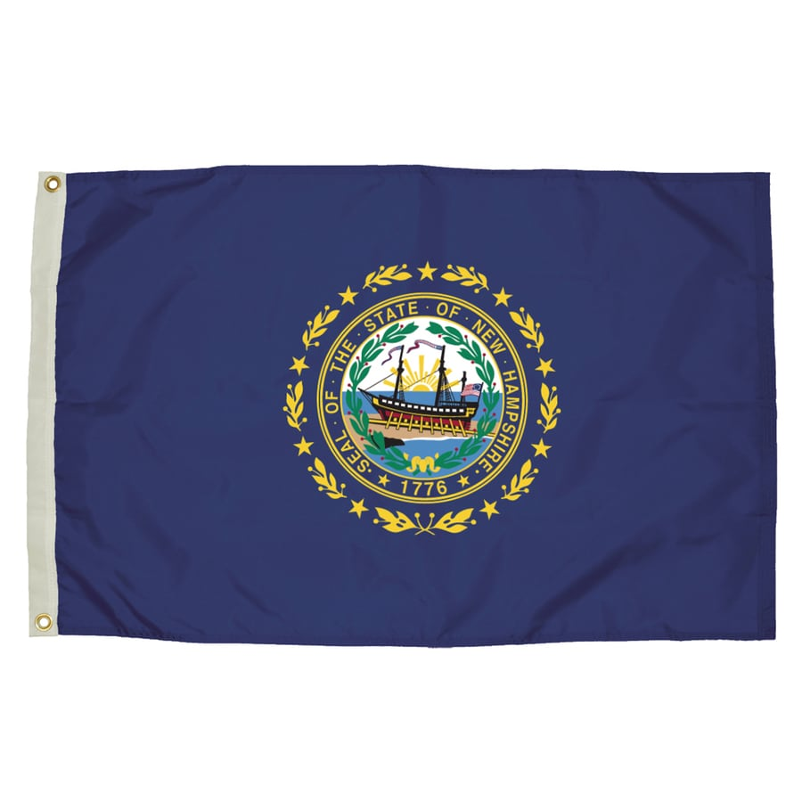 5-ft W x 3-ft H State New Hampshire Flag