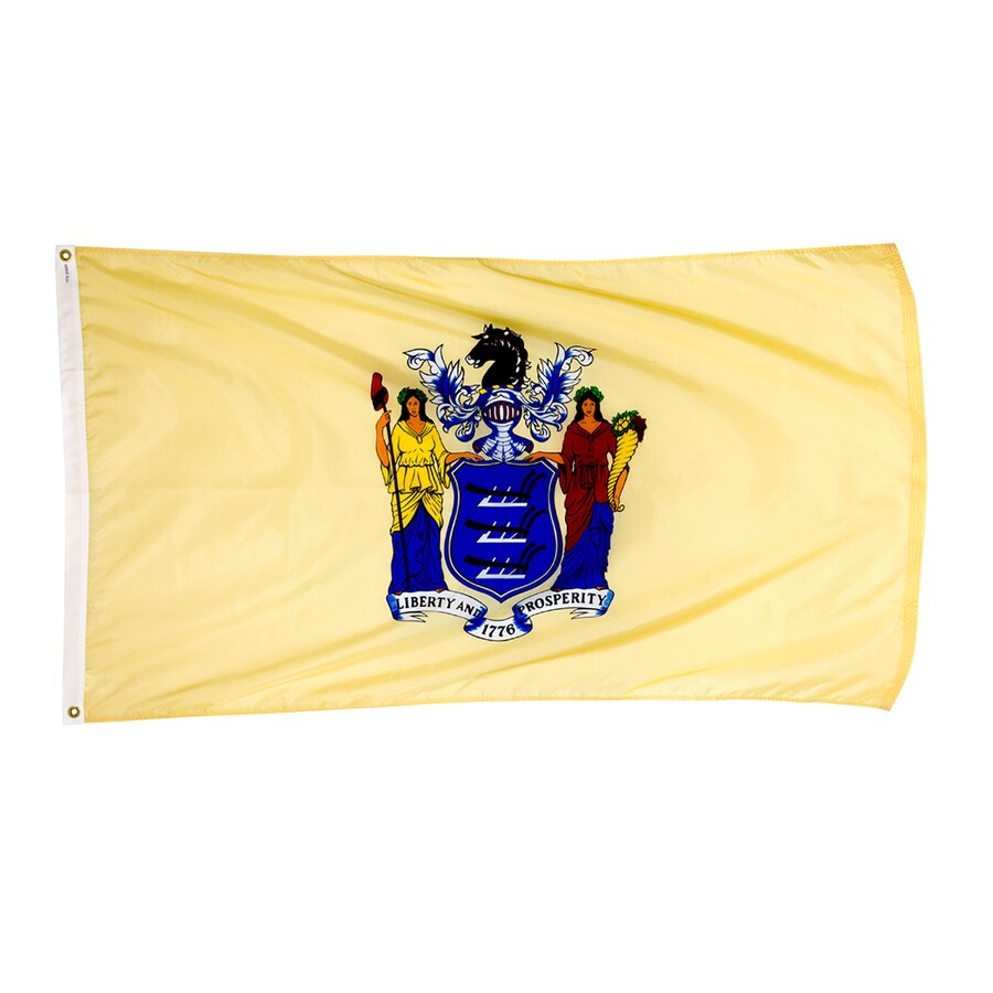 5-ft W x 3-ft H State New Jersey Flag
