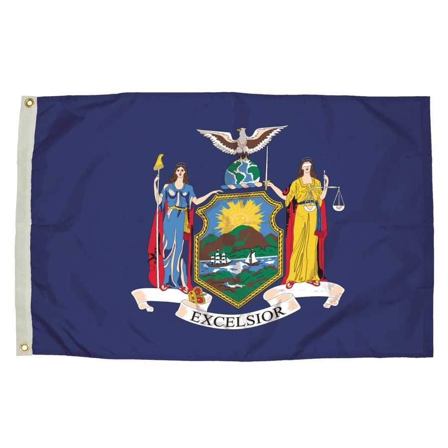 5-ft W x 3-ft H State New York Flag