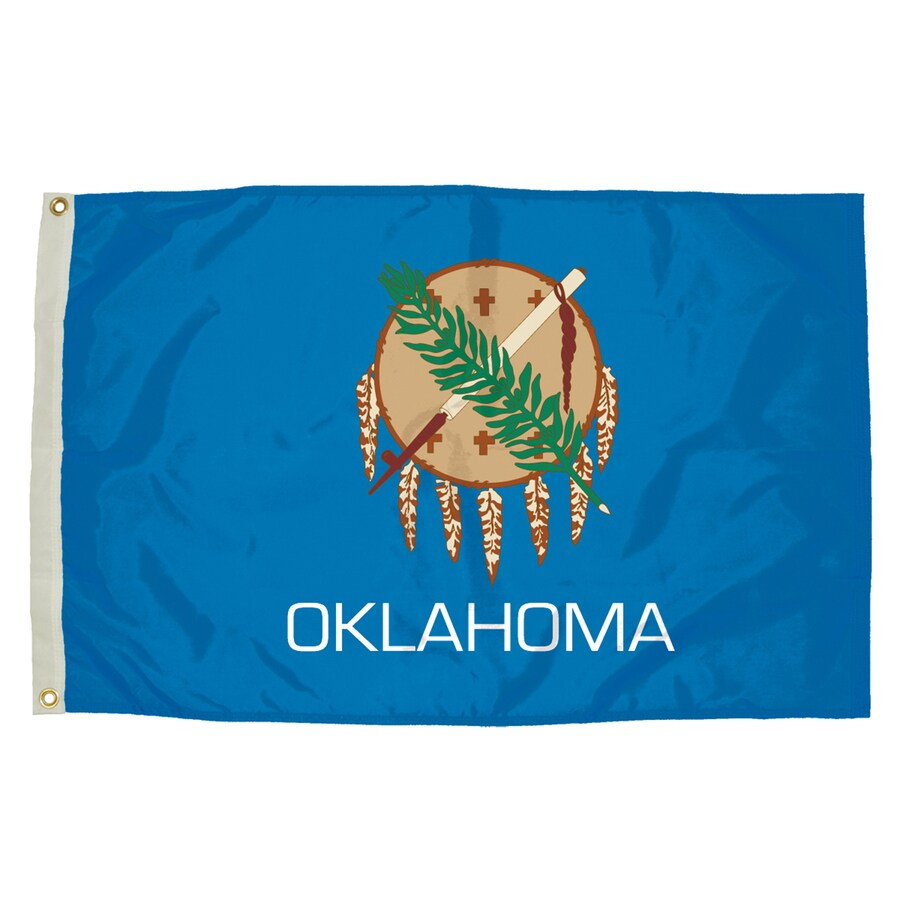 5-ft W x 3-ft H State Oklahoma Flag