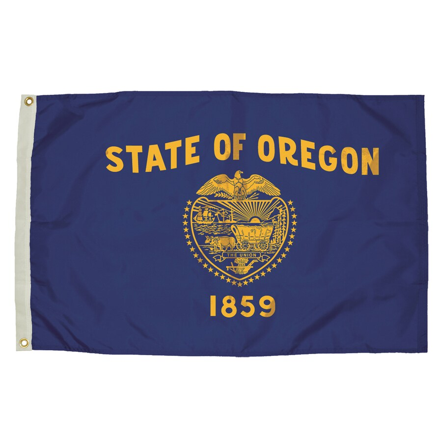 5-ft W x 3-ft H State Oregon Flag