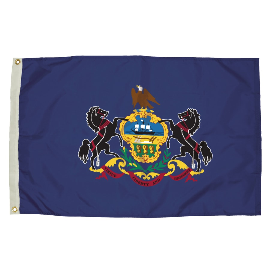 5-ft W x 3-ft H State Pennsylvania Flag