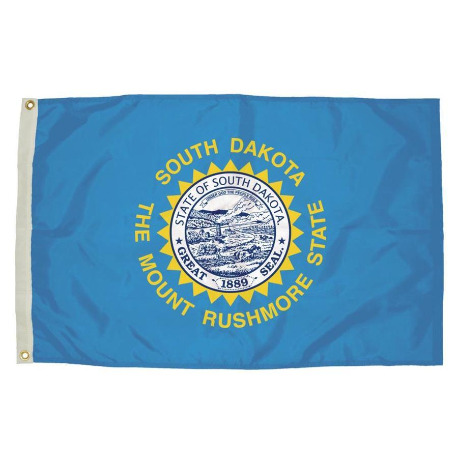 5-ft W x 3-ft H State South Dakota Flag