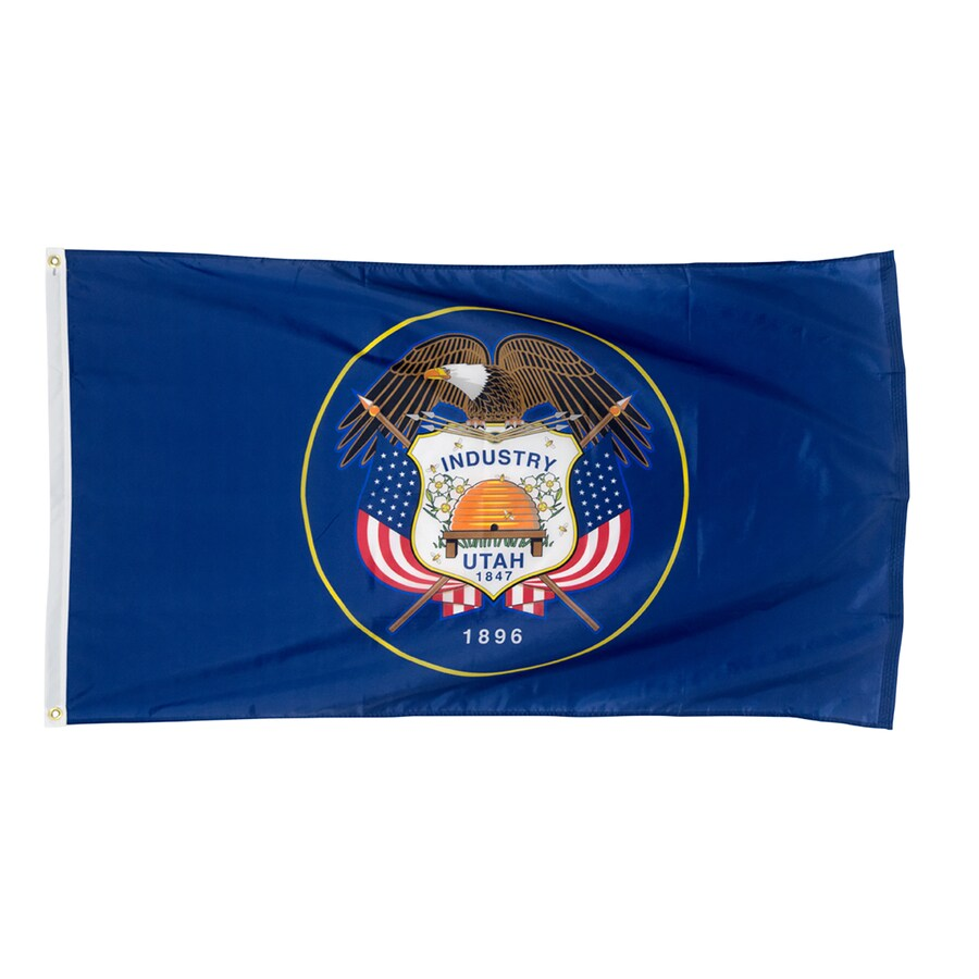 5-ft W x 3-ft H State Utah Flag
