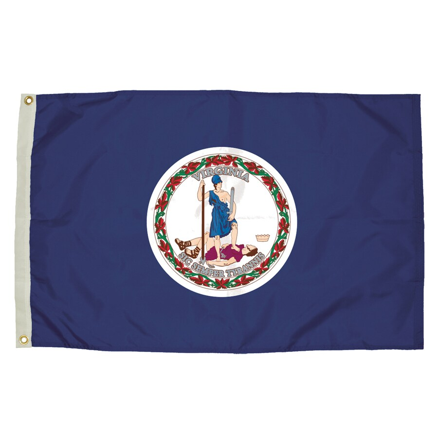 5-ft W x 3-ft H State Virginia Flag