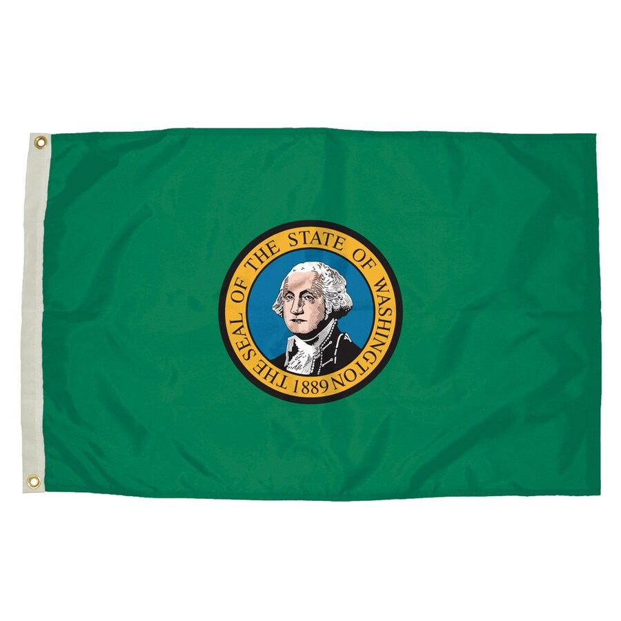 5-ft W x 3-ft H State Washington Flag