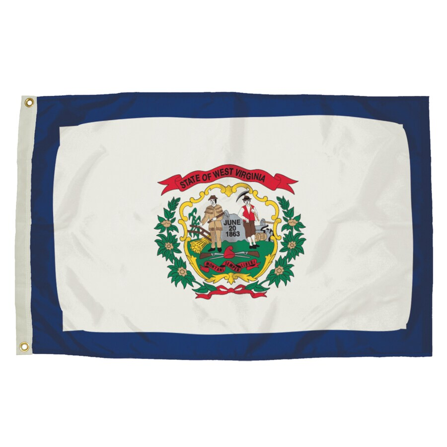 5-ft W x 3-ft H State West Virginia Flag