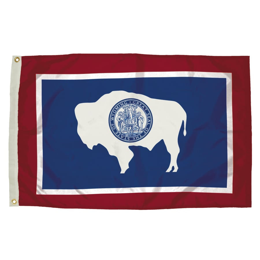 5-ft W x 3-ft H State Wyoming Flag