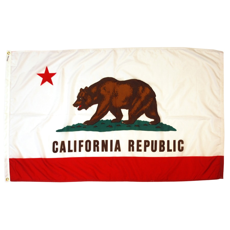 5-ft W x 3-ft H State California State Flag