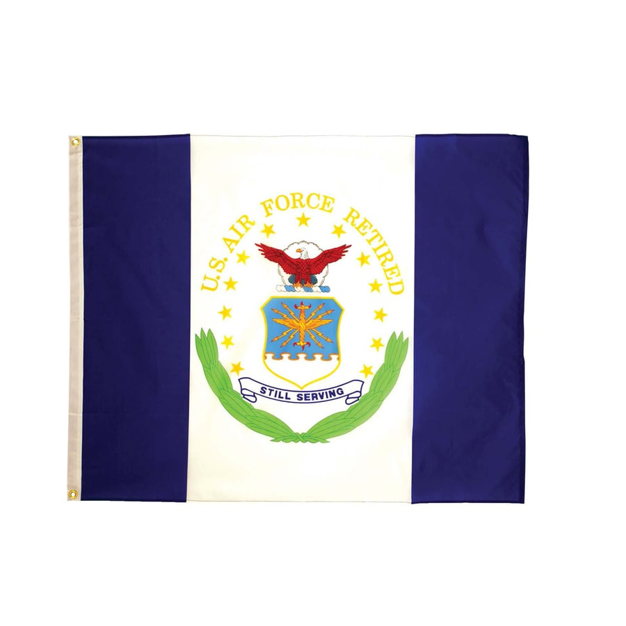 4-ft W x 3-ft H Military Air Force Flag