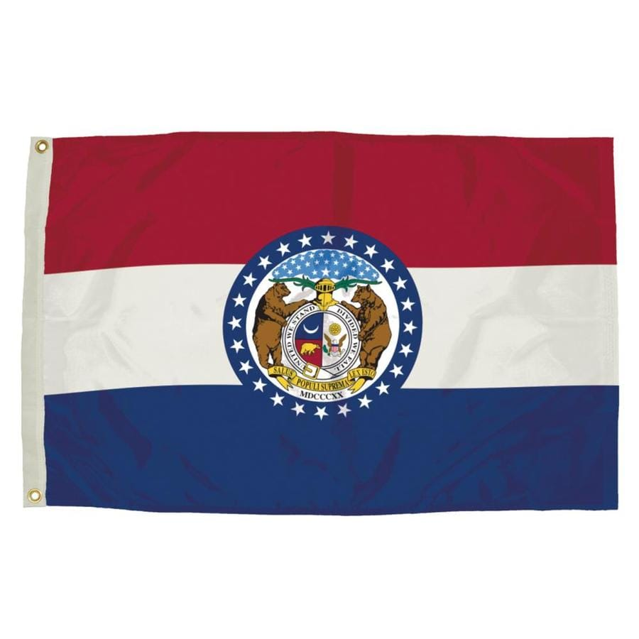 5-ft W x 3-ft H State Missouri Flag