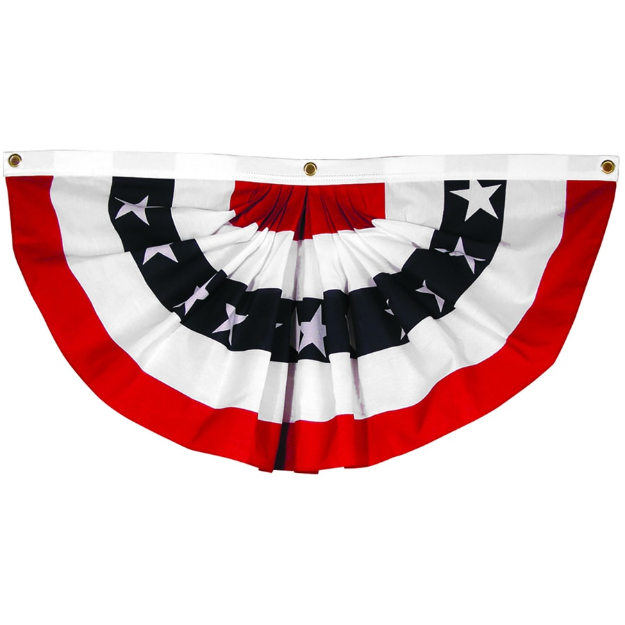 Independence Flag 6-ft W x 2.875-ft H American Pleated Fan