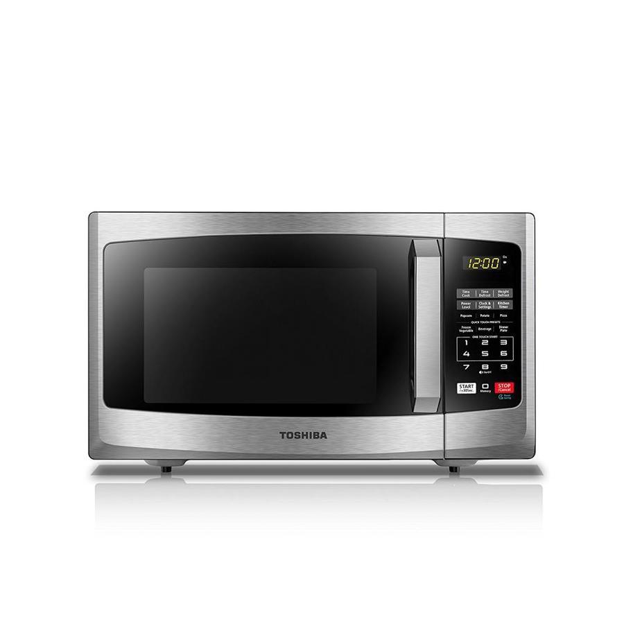 Toshiba 0.9-cu ft 900-Watt Countertop Microwave (Stainless