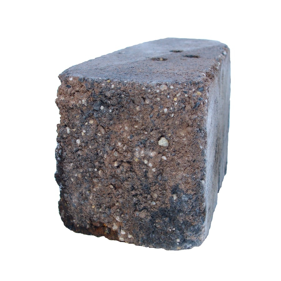 Country Manor Brown/Charcoal Retaining Wall Block (Common: 6-in x 6-in; Actual: 6-in x 6-in)