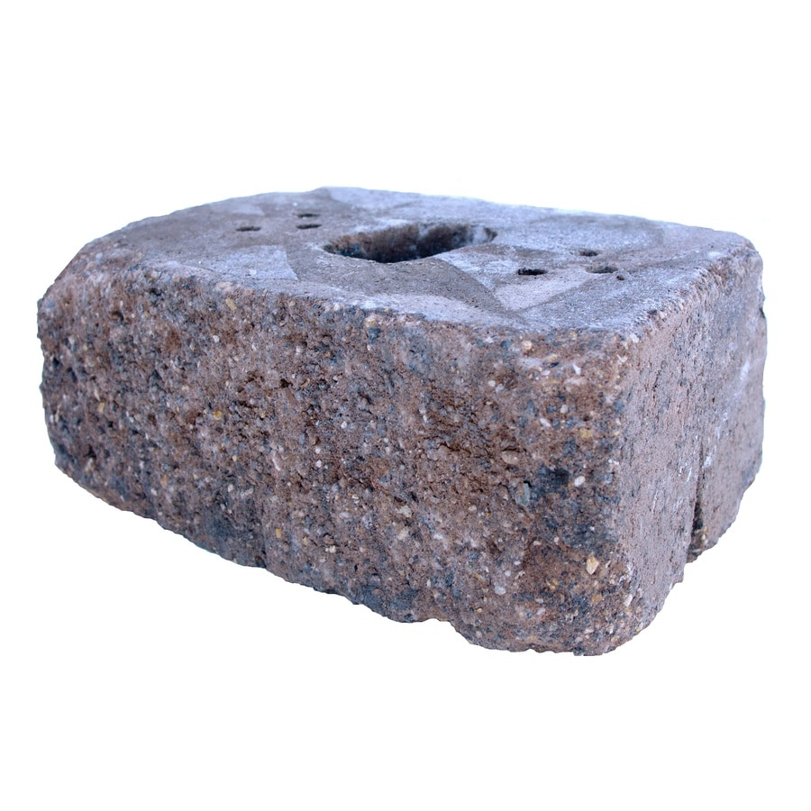 Brown/Charcoal Tumbled Concrete Retaining Wall Block (Common: 16-in x 6-in; Actual: 16-in x 6-in)