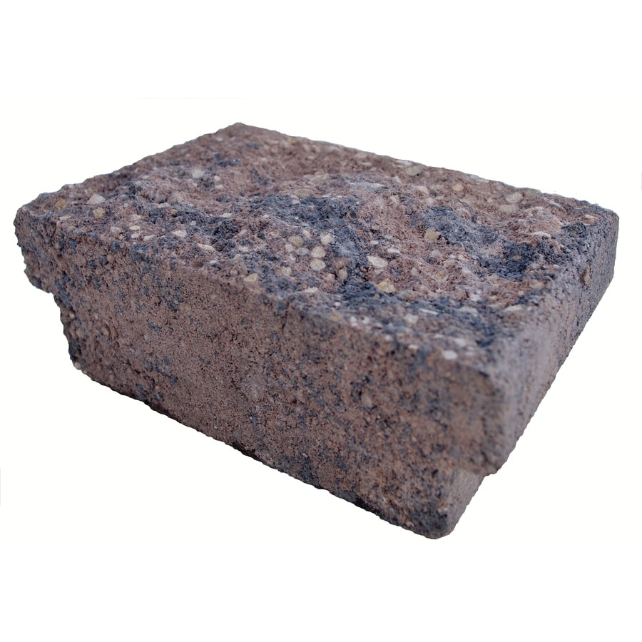 Insignia Brown/Charcoal Blend Straight Edging Stone (Common 9-in x 5-in; Actual: 8.7-in x 5-in)