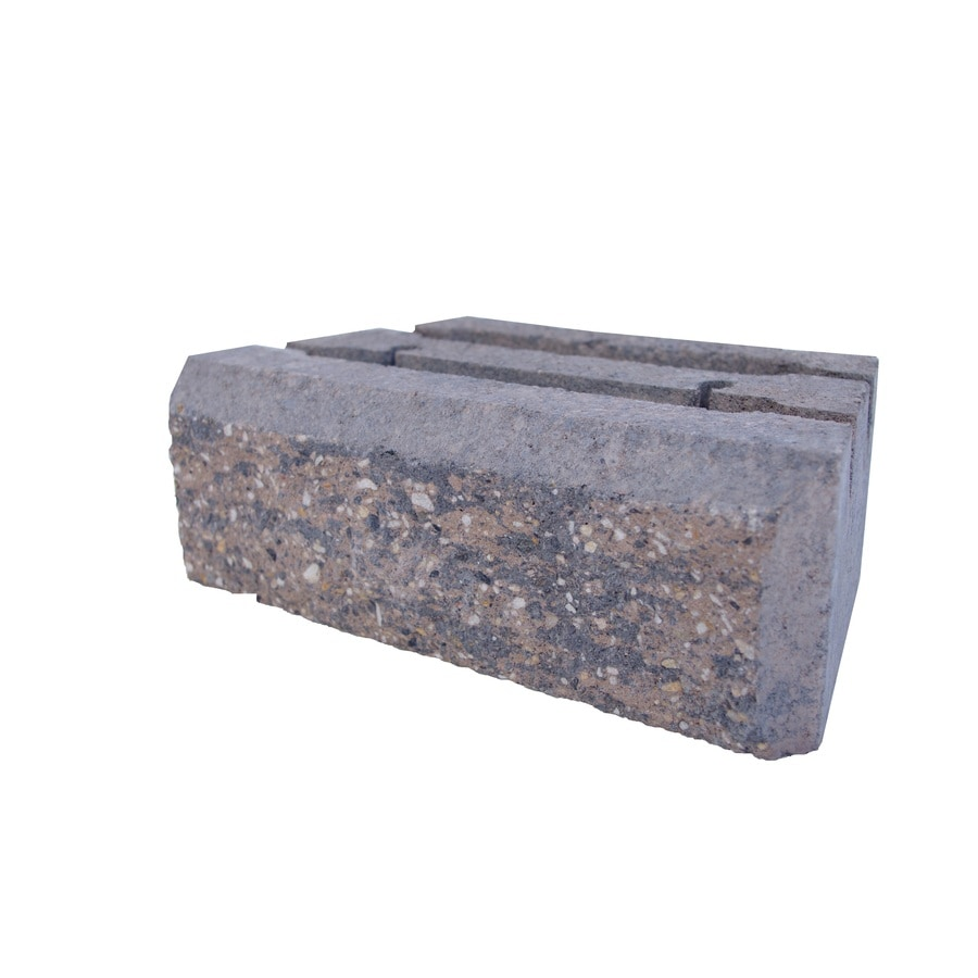 Insignia Brown/Charcoal Blend Retaining Wall Block (Common: 4-in x 12-in; Actual: 4-in x 12-in)