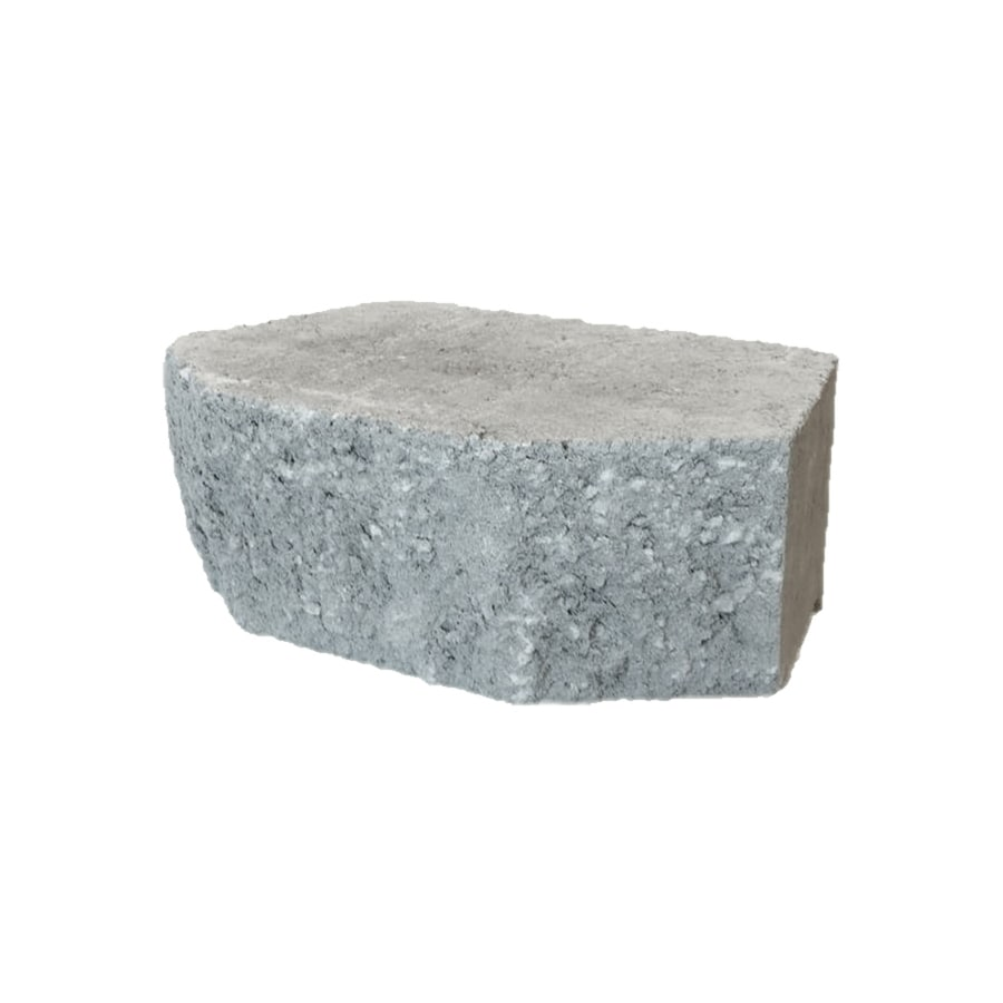Grey Retaining Wall Block (Common: 4-in x 12-in; Actual: 4-in x 11.5-in)