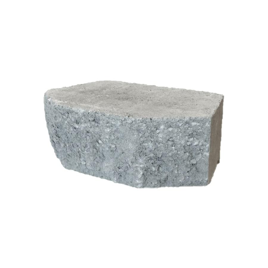 Grey Retaining Wall Block (Common: 9-in x 12-in; Actual: 9.2-in x 11.5-in)