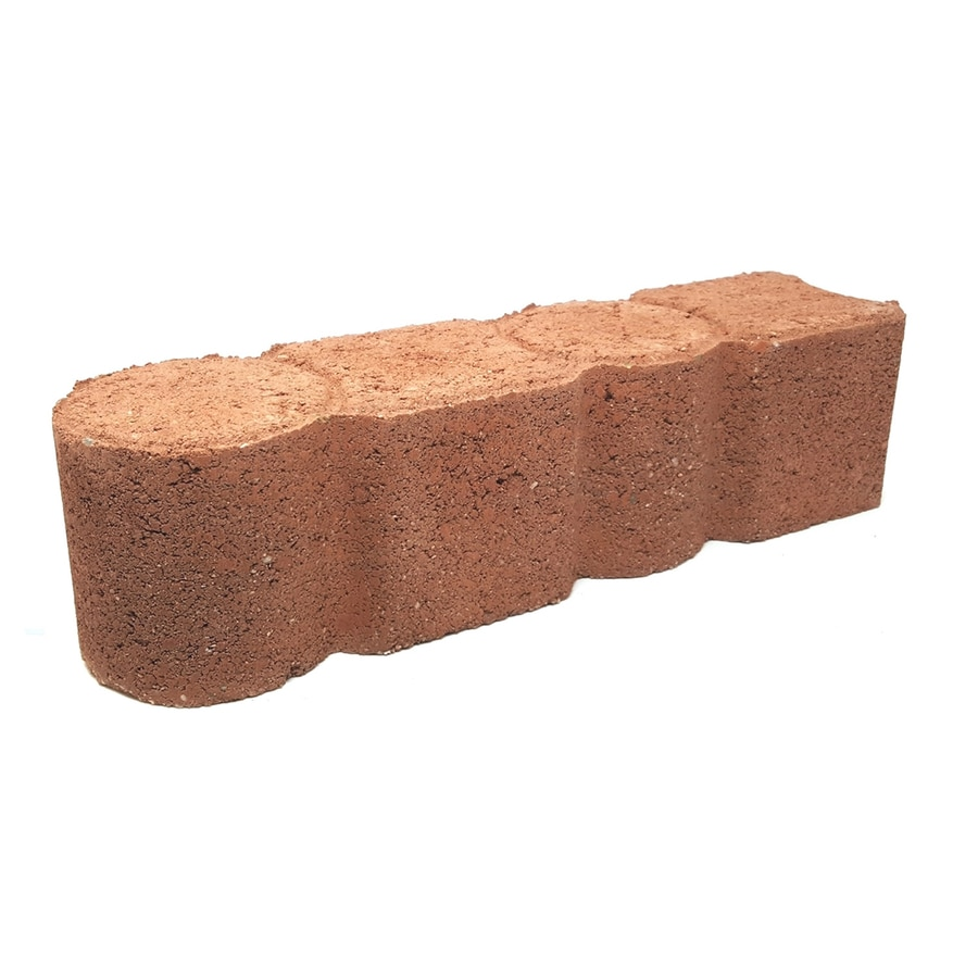 Red Straight Edging Stone (Common 12-in x 4-in; Actual: 11.8-in x 3.6-in)