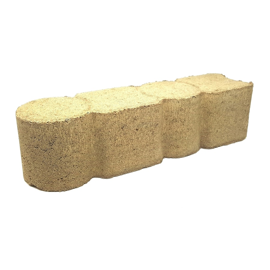 Tan Straight Edging Stone (Common 4-in x 12-in; Actual: 3.6-in x 11.8-in)