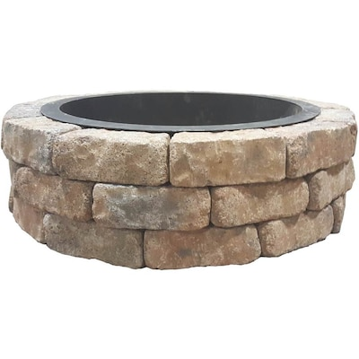 Natura Wall Firepit Kit Sahara Sand 42 In X 12 Fire Pit The Project Kits Department At Lowes