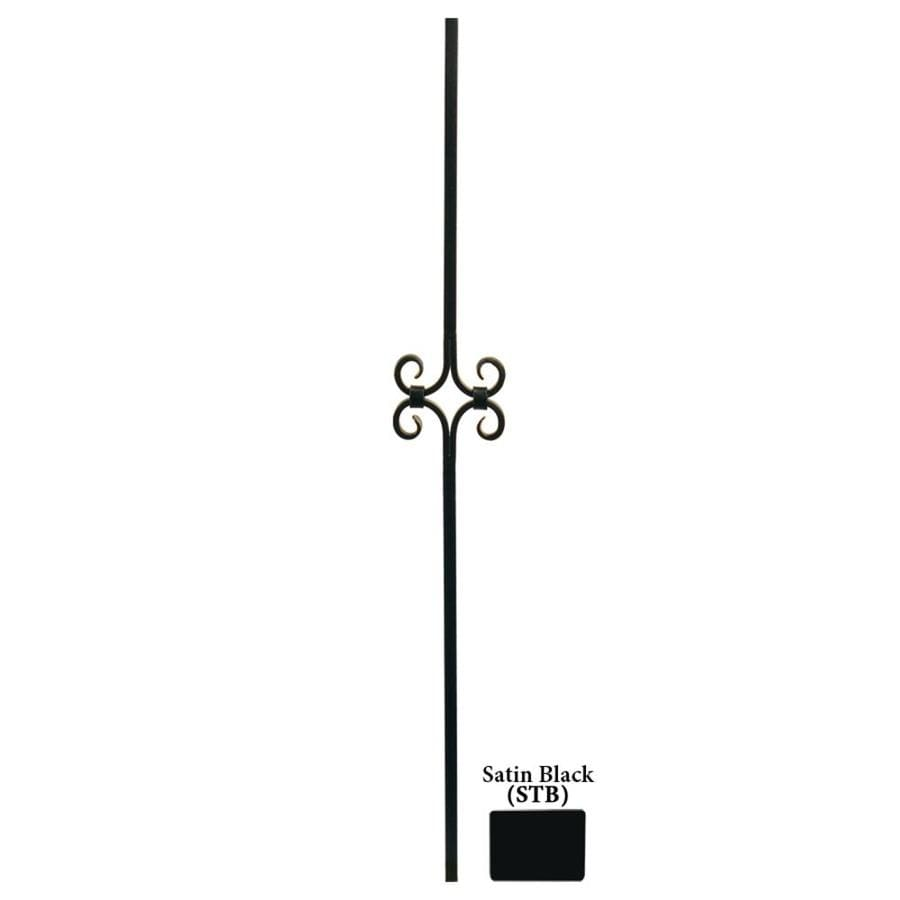 House of Forgings Hollow 44-in Satin Black Wrought Iron Designer Tubular Stair Baluster