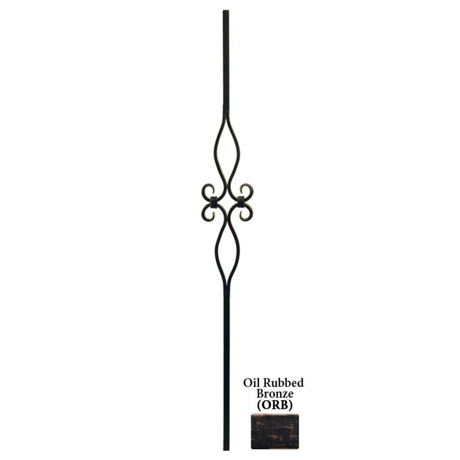 House of Forgings Hollow 44-in Oil Rubbed Bronze Wrought Iron Designer Tubular Stair Baluster
