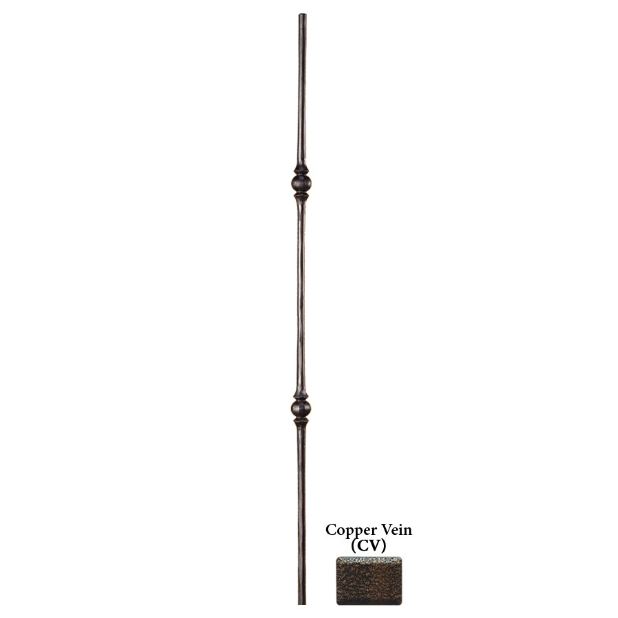 House of Forgings Solid 44-in Copper Vein Wrought Iron Tuscan Stair Baluster