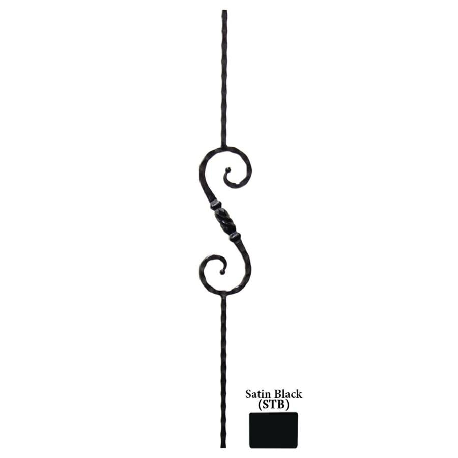 House of Forgings Solid 44-in Satin Black Wrought Iron Tuscan Stair Baluster