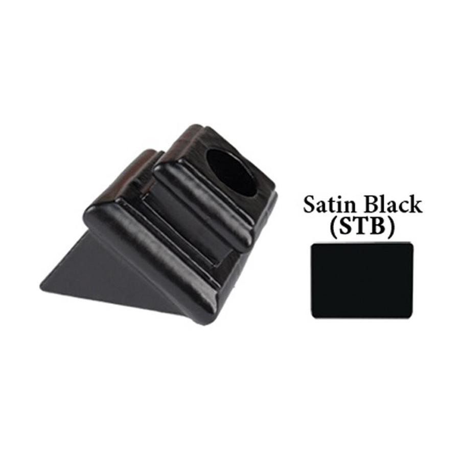 House of Forgings Round Satin Black Cast Iron Baluster Shoe