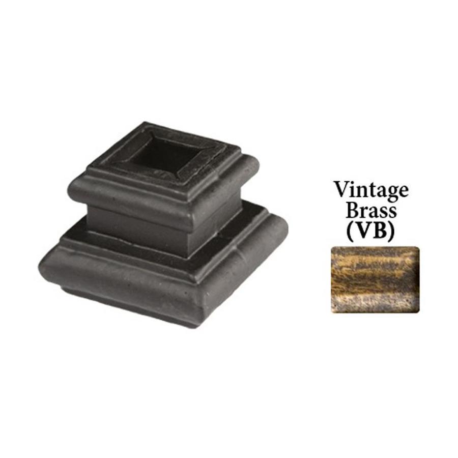 House of Forgings Adjustable Vintage Brass Cast Iron Baluster Shoe
