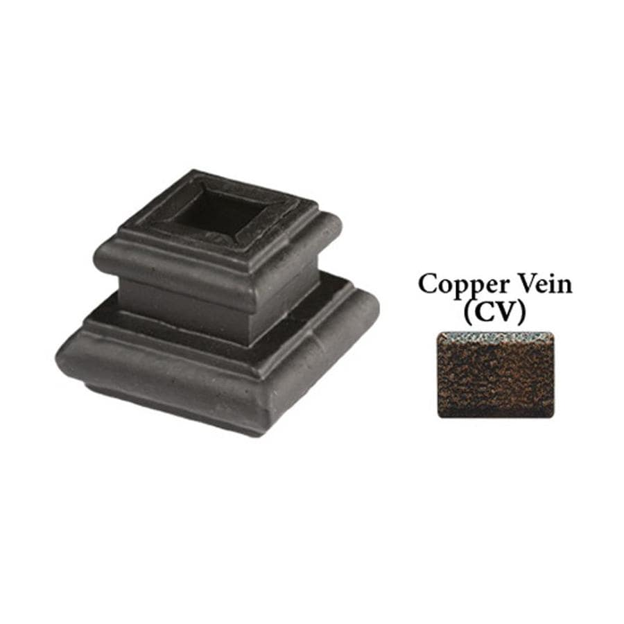 House of Forgings Adjustable Copper Vein Cast Iron Baluster Shoe