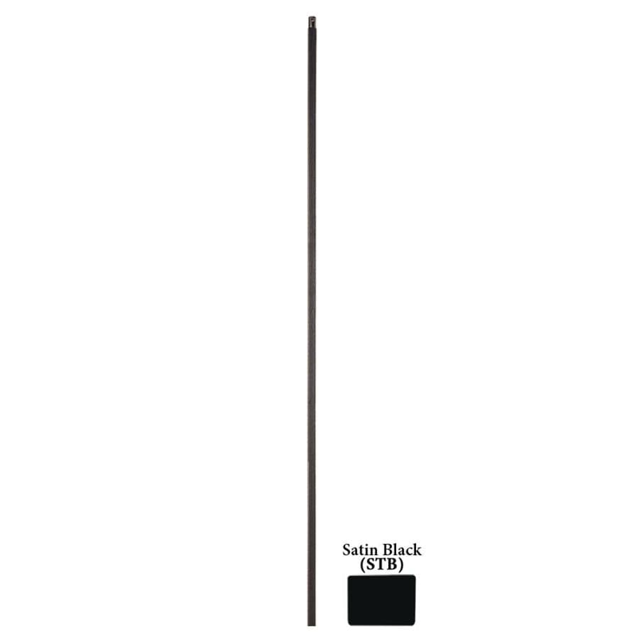 House of Forgings Solid 44-in Satin Black Wrought Iron Versatile Stair Baluster