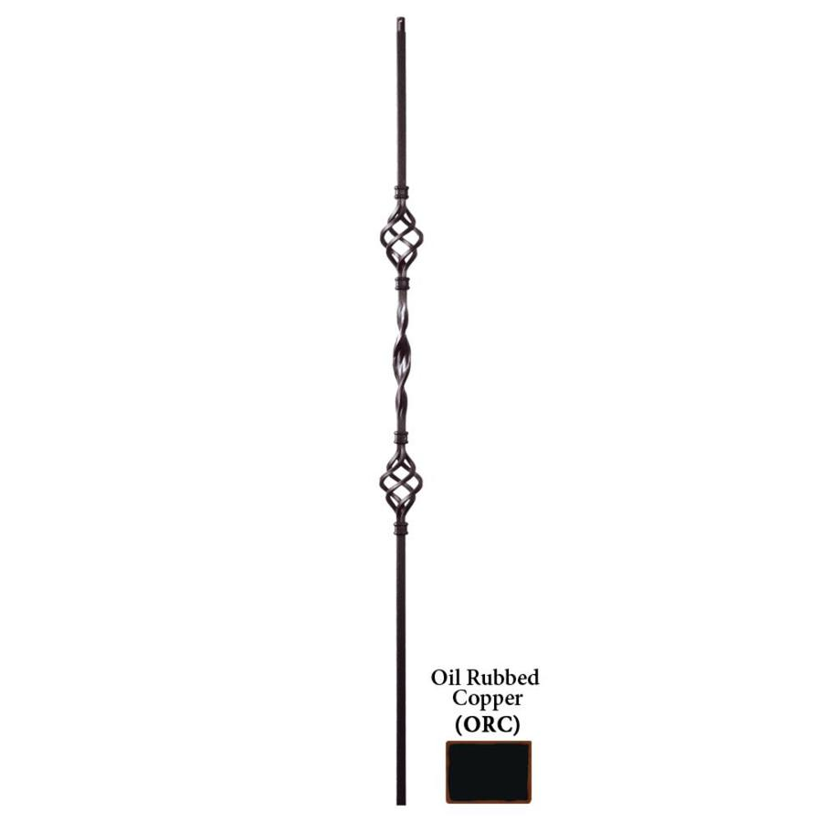 House of Forgings Solid 44-in Oil Rubbed Copper Wrought Iron Ribbon Stair Baluster