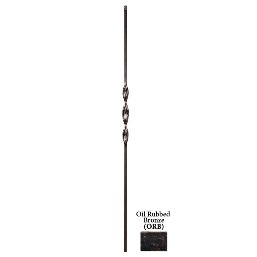 House of Forgings Solid 44-in Oil Rubbed Bronze Wrought Iron Ribbon Stair Baluster