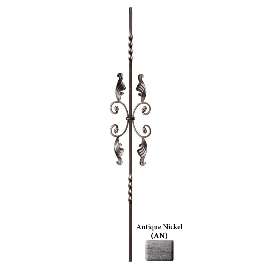 House of Forgings Solid 44-in Antique Nickel Wrought Iron Twist Stair Baluster